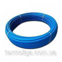 Труба d25*2,0 PN6 ПЭ80 полиэтиленовая Delta синяя питьевая