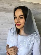 Весільна біла хустина Діва, фото 3