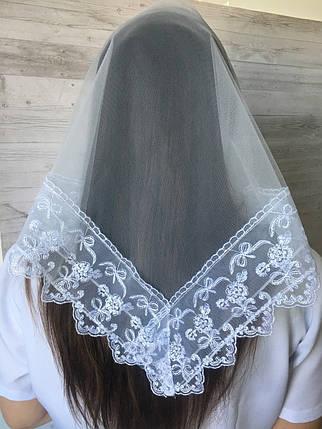 Весільна біла хустина Діва, фото 2