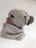 Комплект шапка и шарф, фото 1