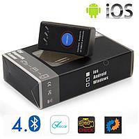 Сканер-адаптер Elm327 v1.5 с кнопкой OBDII Bluetooth 4.0 для Iphone, android OBDII