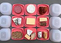 """""""Умная сырница"""" """"Кроха"""" для длительного хранения сыра с поддоном в нежно-коралловом цвете Tupperware, фото 1"""