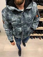 Осенне-зимняя мужская куртка из плотного коттона