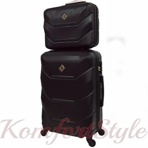 Комплект чемодан и кейс Bonro 2019 средний чёрный (10501107)