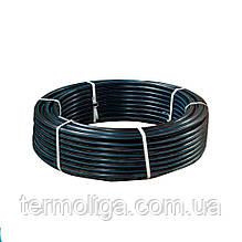Труба d20*1,8 PN6 ПЭ80 полиэтиленовая Акведук черная с синей полосой питьевая
