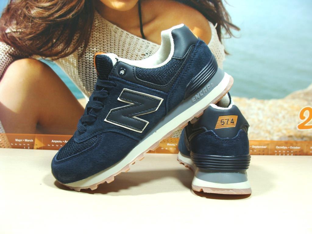 Кроссовки женские New Balance 574 (реплика) синие 39 р.