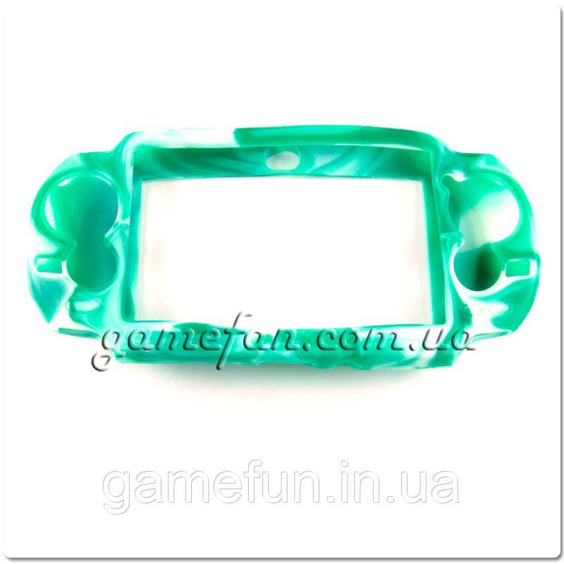 PS Vita силиконовый чехол (Камуфляж)(Green-white) (PCH-1000)