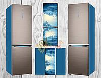 Виниловая наклейка на холодильник Изморозь