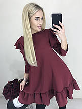 Платье свободного кроя низ воланом /разные цвета, 42-46, ft-1030/, фото 3