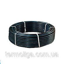 Труба d32*2,0 PN6 ПЭ80 полиэтиленовая Акведук черная с синей полосой питьевая