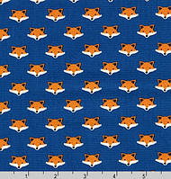 """Американский хлопок ткань для пэчворка и рукоделия """"Мордочка лисички"""",  24*55 см"""