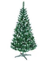 Елка европейская снежинка 2.5 м Зеленая с белым (hub_zdAk44639)