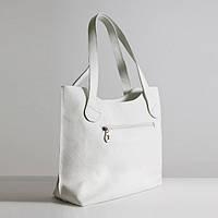 Кожаная белая женская сумка