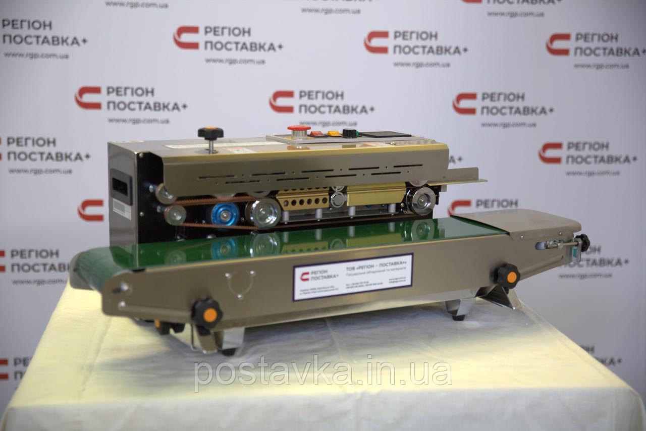 Настольный запайщик конвейерного типа FR-900S с датировщиком
