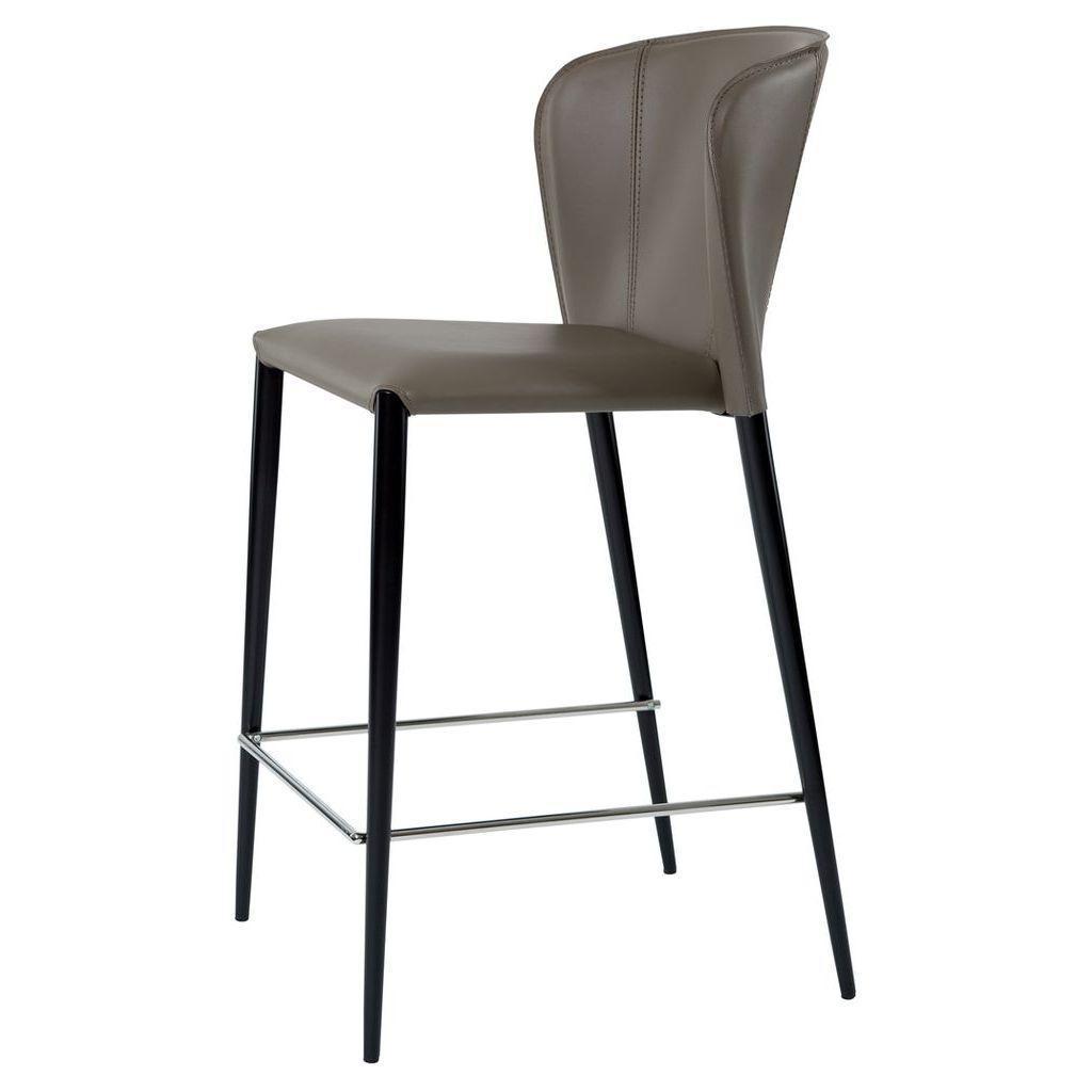 Полубарный стул ARTHUR (Артур) пепельно-серый кожа от Concepto