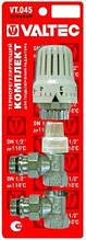 VALTEC VT.045.N.04 1/2'' Комплект для подключения радиатора (угловой) с термоголовкой