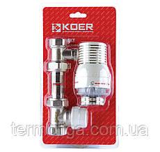 KOER KR.1321 1/2'' Комплект для подключения радиатора (прямой) с термоголовкой