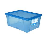 Ємність д/зберігання з кришкою Visualbox XL синій 39x29x18_13123