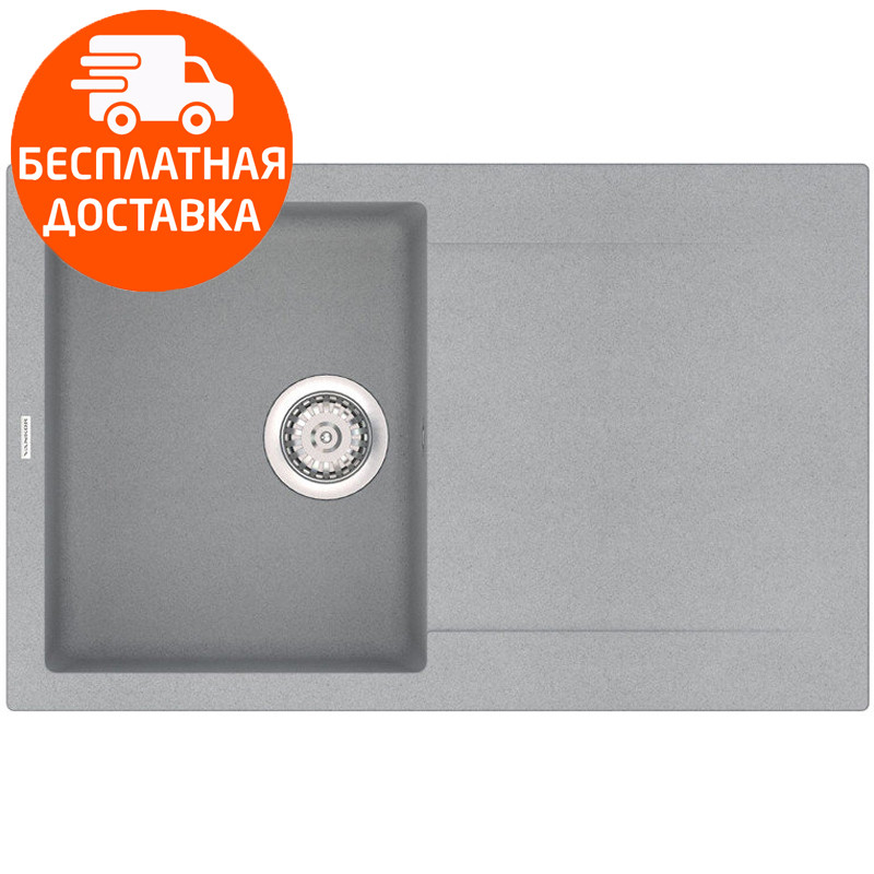 Гранитная мойка прямоугольная Vankor Orman OMP 02.78 Gray Stone серый
