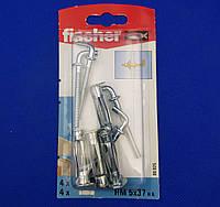 Металлический дюбель Молли с крючком для гипсокартона - Fischer HM 5 x 37 SK