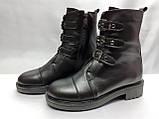 Стильные зимние кожаные ботинки на молнии Terra Grande, фото 2