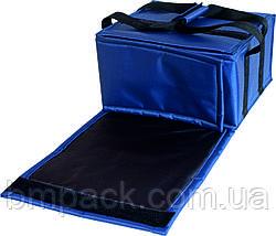 Термосумка для доставки пиццы т.синяя застёжка липучка, фото 3