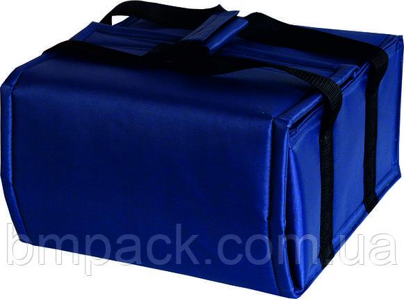 Термосумка для доставки пиццы т.синяя застёжка липучка, фото 2