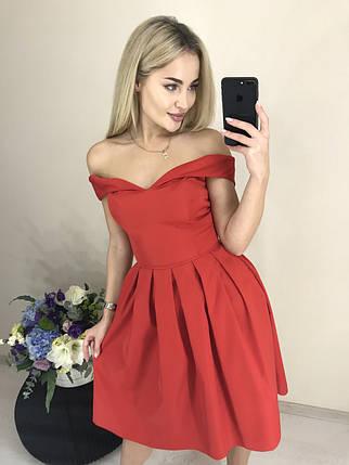 Нарядное платье с открытыми плечами /красное, 42-46, ft-419/, фото 2