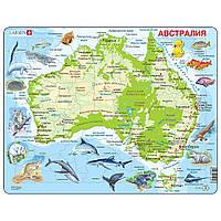 Пазл рамка-вкладыш Карта Австралии с животными, серия МАКСИ, Larsen, фото 1