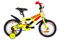 """Велосипед 14"""" Formula RACE усилен. St с крылом Pl 2019 (желто-оранжевый)"""