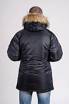 Мужская зимняя парка куртка аляска Olymp c нашивками, фото 2