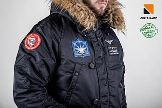 Мужская зимняя парка куртка аляска Olymp c нашивками, фото 3