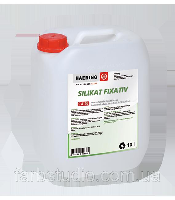 Грунтовка силикатная Haering Silikat Fixativ S 4105 10 л Германия фасадня интерьерная