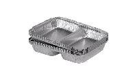 SPM2L контейнер двухсекционный из пищевой алюминиевой фольги, 100шт/уп