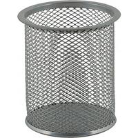 Підставка для ручок кругла 80х80х97мм, металева срібна