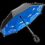Ветрозащитный зонт️ обратного сложения Up-brella Dream Sky + чехол (n-73), фото 3