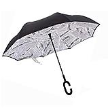 Зонт обратного сложения Up-brella Journal White + чехол (n-74), фото 3