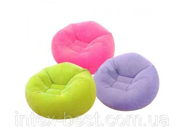Надувное кресло Intex 68569 Зелёное, фото 2
