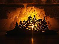 Подсвечник  дом в лесу со свечей домик светяшка
