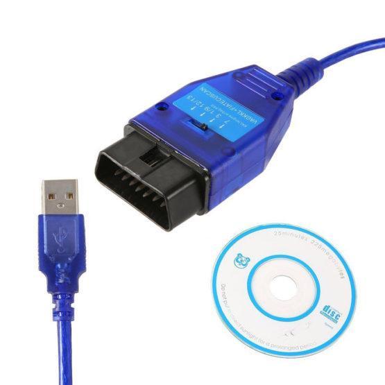 Диагностический адаптер VAG-COM 409 KKL + FIATECUSCAN/CHEVROLET EXPLORER Чип FT232RL (с переключателем)