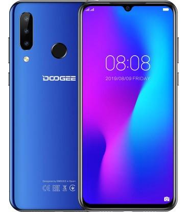 """Смартфон Doogee N20 4/64Gb Blue, 16+8+8/16Мп, Helio P23, 8 ядер, 2sim, екран 6.3"""" IPS, 4350mAh, 4G"""