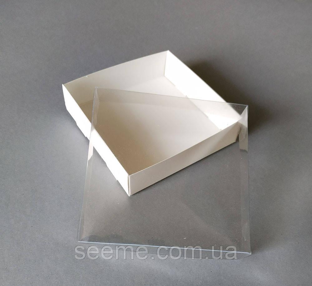 Коробка з пластиковою кришкою 120х120х30 мм