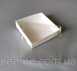 Коробка с пластиковой крышкой 120х120х30 мм