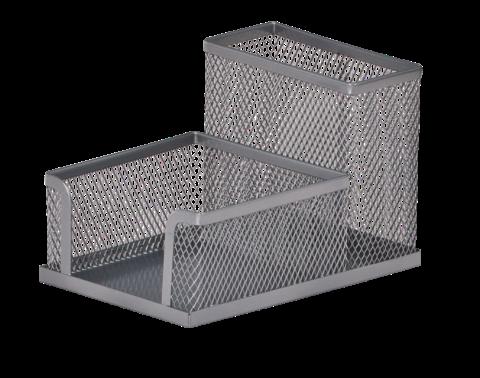 Прибор настільний 100x150x90мм, металевий, срібний