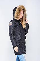 Жіноча зимове аляска чорного кольору від Olymp, фото 3