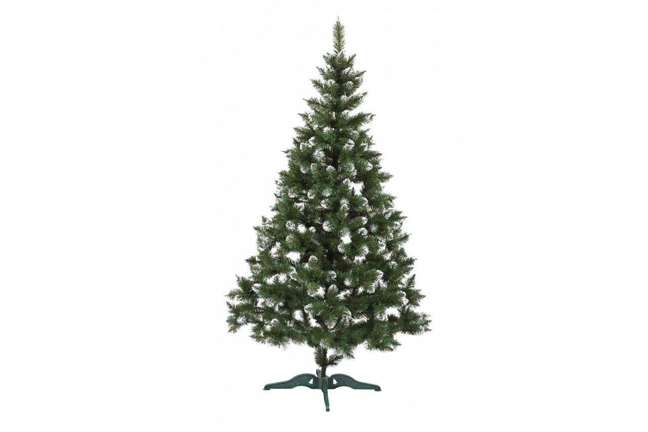 Ель искусственная новогодняя Лидия Зеленая с белыми кончиками 220см  ЯШЛ-БК-2,20