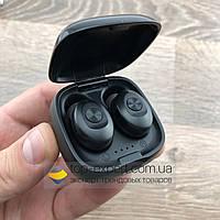 Беспроводные Bluetooth наушники mini TWS XG-12 BT5.0 с кейсом для зарядки копия xiaomi redmi airdots черные