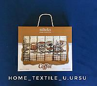 Набір кухонних вафельних рушників Niltex 50х70 Кави 6шт., фото 1