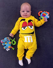 Человечек для малышей интерлок Жёлтый .