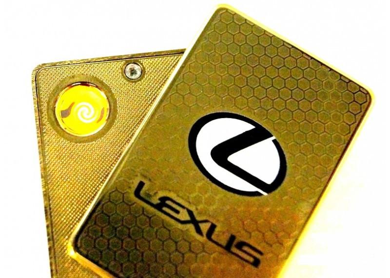 Зажигалка электроимпульсная USB марки машин Lexus